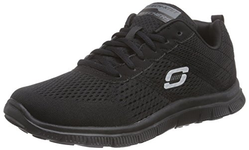 Skechers Flex Appeal - Obvious Choice, Zapatos para mujer Negro (BBK)