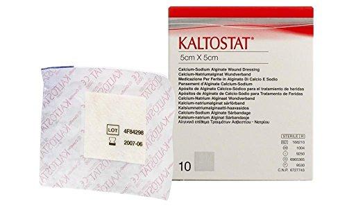 Kaltostat Alginate Dressing - ConvaTec Kaltostat Calcium Sodium Alginate Wound Dressing 5Cm X 5Cm Pack Of 10