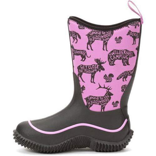 Muck Boot Kid's Hale Waterproof Boots, Black, Neoprene, Rubber, Mesh, 6 Big Kid M