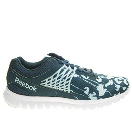 Reebok Sublite Escape 3.0 Her - Zapatillas de gimnasia de Material Sintético para mujer Verde Verde/Bianco