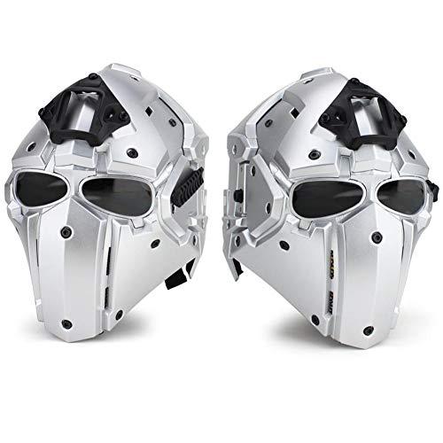 QZY Casque De Protection Modulaire pour Moto pour Entraînement Militaire Airsoft-Silver 4
