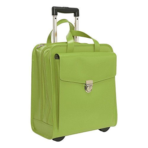 Collection Women's Rolling Laptop Briefcase in Green (Jack Georges Brief Bag)