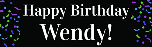 Over the Hill Personalized Happy Birthday Banner (Vinyl Birthday Banners Personalized)