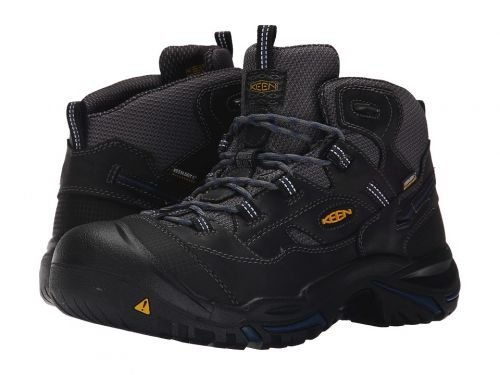 Keen Utility(キーン) メンズ 男性用 シューズ 靴 ブーツ 安全靴 ワーカーブーツ Braddock Mid Waterproof Soft ToeRaven/Estate Blue [並行輸入品] B07BMJ1YW4 9.5 EE Wide