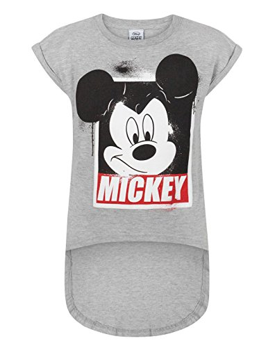 Disney Mickey Mouse Girl's Dipped Hem T-Shirt (11-12 - Mouse Mickey Pete Shirt