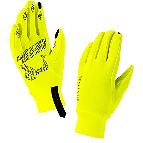 (Sealskinz Stretch Fleece Nano Gloves X Large Hi Vis Yellow Black)