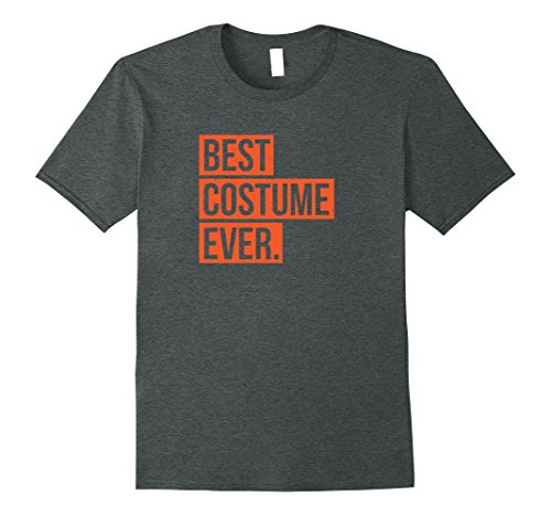 Best Couple Costumes Easy (Mens Best Costume Ever Halloween party funny tee shirt gift XL Dark Heather)