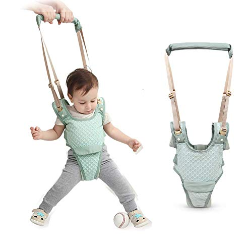 Baby Detachable Walking Harness Baby Walker Breathable Walking Assistant, Handheld,Adjustable Walk Learning Protective Belt for Baby 6-36 Months (Green3)