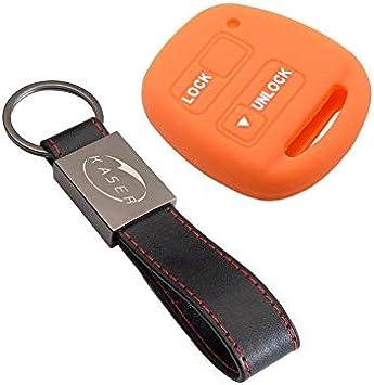 Negro Carcasa Llaveros 2 Botones para Coche Auris Aygo RAV4 Yaris Vios Cover Case Protecci/ón Remoto Mando Auto kaser Funda Silicona para Llave Toyota