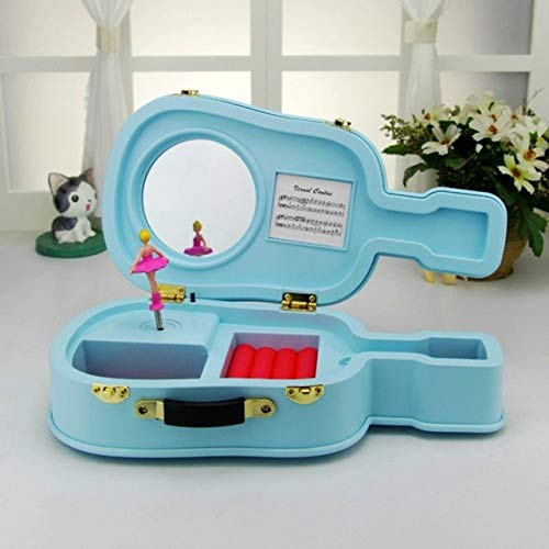 1PCS Creative Guitar Music Box Plastic Violin Music Box Dancing Ballet Girl Music Box-Musical Jewelry Box-DIY Music Box-Hand Crank Engraved Box Music-Music Box Gift for Christmas,Birthday ()