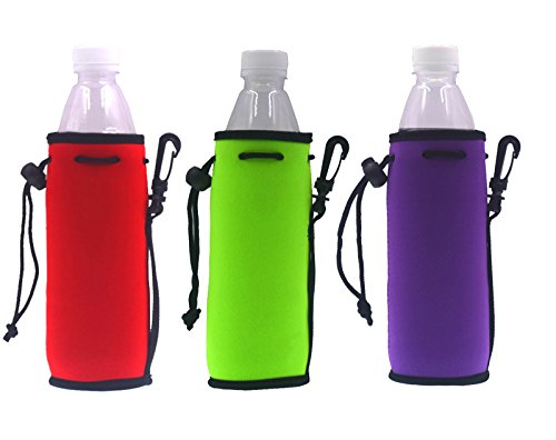 Neoprene Water Bottle Drawstring Insulator Cooler Sleeve bag (Mix-4)