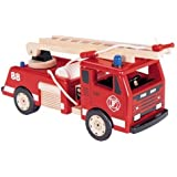 Pintoy: Classic Wooden Fire Engine (Fire Truck)