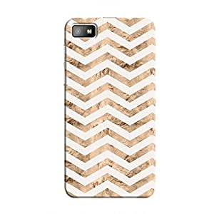 Cover It Up - Brown White Tri Stripes BlackBerry Z10 Hard case