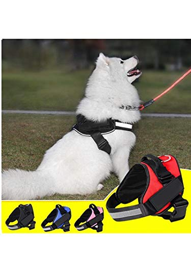 Price comparison product image Ultra Comfort Strong Cross Dog Harness Traction Rope Pet Jump Resistant Breast Strap Service Dog Explosion-proof Chest Belt Outdoor Strengthen Durable Safety Harnesses for Small Medium Dog (Red,  S)