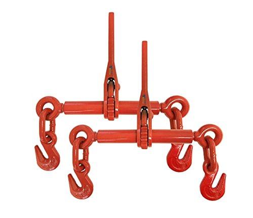2 Pack Truck Trailer Load Binder Ratchet Chain Binder For...