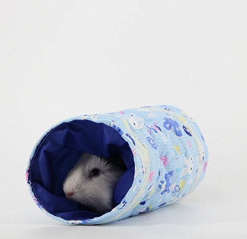 Stock Show 1Pc Cute Spring&Autume Small Pet Animal Tunnel Tube Toy, Cloth Hideout Bed House Playing Hut for Hamster/Gerbil Rat/Guinea Pig/Chinchilla/Squirrel