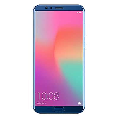 "Honor View10 GSM Unlocked Smartphone, AI Processor, 5.99"" FullView Display, 20MP + 16MP Dual-Lens AI Camera, Dual SIM 4G, Fast Charging, 6/128 GB, Blue (US Warranty)"