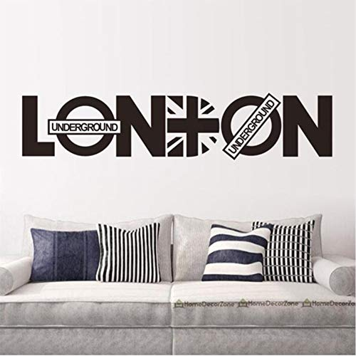 LSFHB Wedding Decoration London Character Home Decor Wall Sticker Creative Quotes Wall Decal Vinyl DIY -