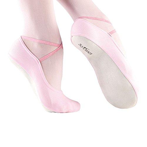 So Danca BA40 Gymnastik Slipper Schläppchen mit Chromledersohle Ballett Gymnastik Tanz Jazz Dance Yoga Fitness Weiß