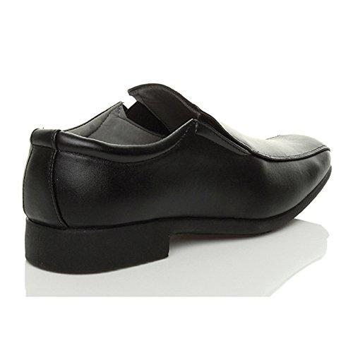 Ajvani Mens Low Heel Formal Shoes Size Black 1Tk68YLirW