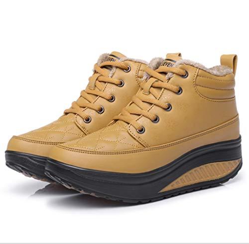 Nieve Zapatos Casuales Plus Liangxie Calzado Antideslizantes Casual Velvet Y Para Amarillo New Cómodo Mujer Madre Impermeable Botas De Invierno 8r8wxq6YE