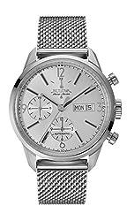 Bulova Accu Swiss 63C116 Mens Accu Swiss Silver Steel Bracelet Watch