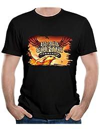 Men Black Country Communion Vintage Short Sleeve Top T-Shirt Young Fashion T-Shirt