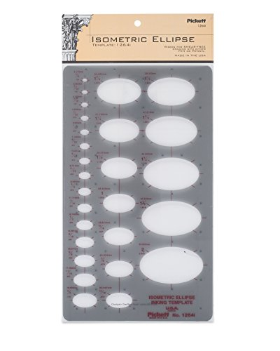 Pickett Isometric Ellipse Template (1264I) (Elliptical Template)