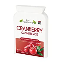 Cranberry Konzentrat Ergänzungen Kapseln für Harnwegsinfektion Harninfekt. Entspricht 12.600 mg Frische Moosbeeren!Fördern Sie die Gesundheit von Nieren, Harnwegen und Blase für Männer und Frauen. Kein Cranberry-Saft mehr!