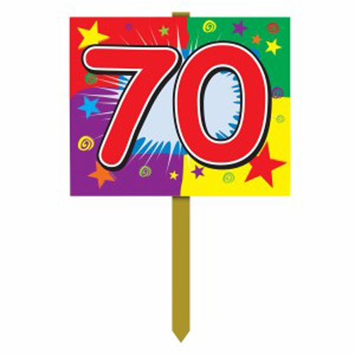 (70 Birthday Yard Sign Party Accessory (1 count))