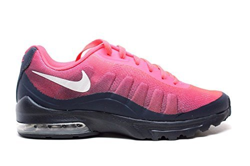 Image of NIKE Men's Air Max Invigor Print Running Shoe, Solar red/Metallic Silver/Obsidian, 12 D US