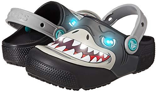Crocs Baby Kids' Fun Lab Light-Up Clog, Black, 9 M US Toddler by Crocs (Image #6)