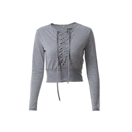Leezeshaw - Sudadera - para mujer gris