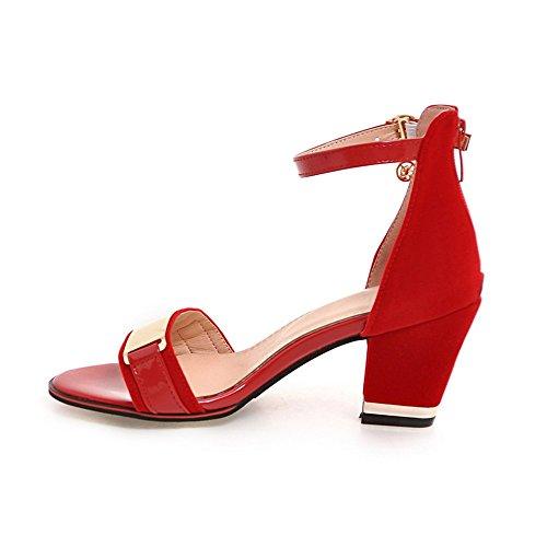 5 Hight de EU37 Heels Square punta mujer 7 CN37 5 sandalias verano moda Tobillo UK4 Zapatos abierta talón Sexy 5 zapatos parte US6 en Nueva wx0YUq7FRf