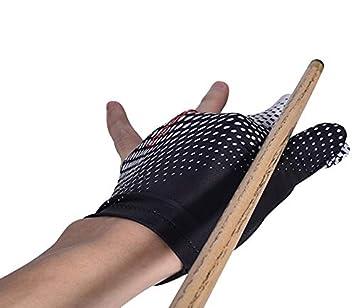 Gants de Billard 2 pi/èces Billard Pool 3 Doigts Gants en Absorption de Transpiration Confortable Gants de Billard Snooker Instruments de Billard Accessoires pour Main Droite et Gauche