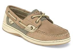 New Sperry Bluefish 2-Eye Linen/Oat 9 Womens Shoes