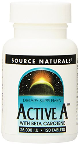 Source Naturals Active A with Beta Carotene 25,000IU - 120 Tablets