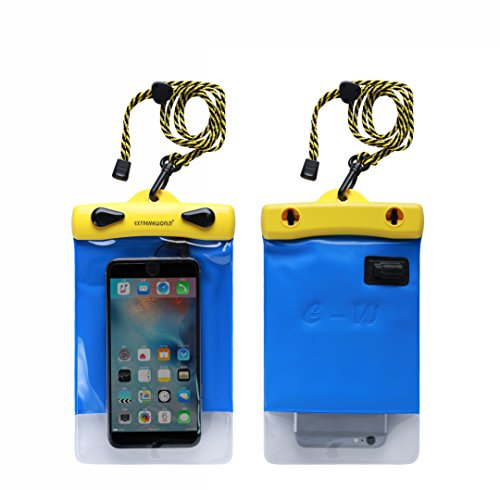 Dry Bag TPU Waterproof Case Bag With External Audio Jack for Outdoor Sports For Smart Phone Apple iPhone 6S, 6, 6S Plus, SE, 5S, CellPhone, Sony Nokia Motorola - Blue (4.7 x 7.1,Y1218H)