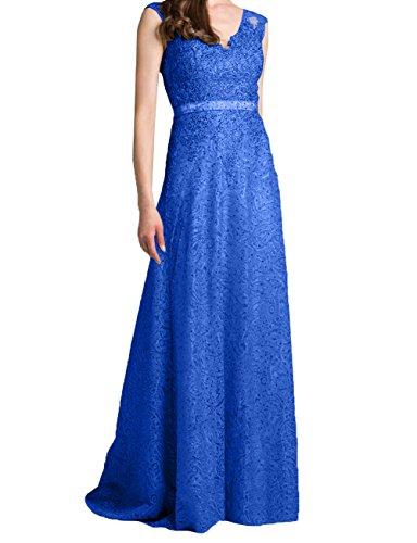 Abendkleider Etuikleider Festlichkleider Lang Neu Brautmutterkleider Zwei Royal Partykleider Blau Damen Traeger Charmant gxqfIn8Rg