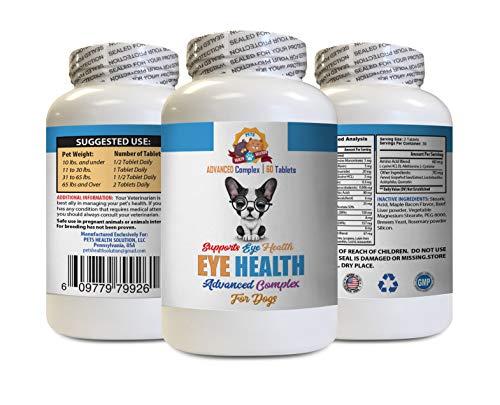 Dog Vision Supplement - Dog Eye Health Solution - Supports Vision - Advanced Complex - Dog Vitamin c - 60 Tablets (1 Bottle)