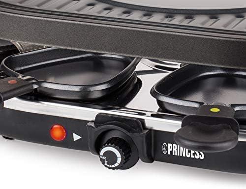 Princess Party Raclette avec 8 Ovale Grille Noir