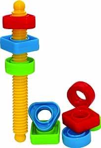 Gowi GW26489 - Screwing, juego de tornillo y tuercas para bebés (10 piezas)