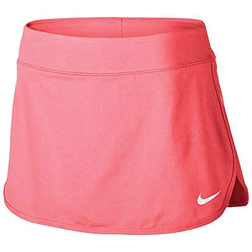 NIKE Court Pure Women's Tennis Skirt (X-Small, Lava Glow/White)