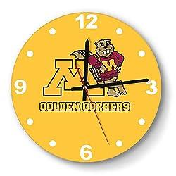 LMQI Wall Clock Fashion Minnesota-Golden-Gophers-Logo- Style Silent Digital Clock for Home