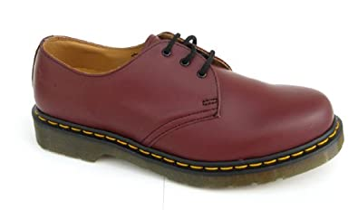 Mens Airwair Dr Martens Cherry Red Leather Classic 3 Eye DM Shoes ... 1f582ecfd501