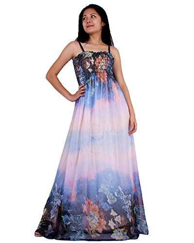 MayriDress Women Black Summer Dress Maxi Plus Size Graduation Chiffon Gift Long (XL, Dreamy Colorful Floral)
