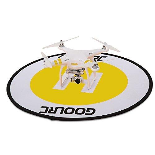 Drone Landing Pad,GoolRC Universal Waterproof 78cm Apron Fast Foldable Retractable Fluorescence Landing Pad for DJI Mavic Pro Phantom 3 4 FPV Quadcopter RC ()
