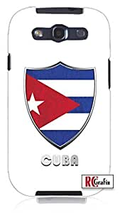 Cool Painting Premium Cuba Badge Flag Direct UV Printed Unique Quality Soft Rubber Case for Samsung Galaxy S4 I9500 - White Case wangjiang maoyi