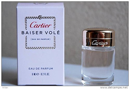 Women Edp Splash Mini (BAISER VOLE by Cartier. Eau De Parfum 6ml-0.2fl.oz. For Women. SPLASH. MINI (Note* Minis Approximately 1-2 Inches in Height). Boxed.)