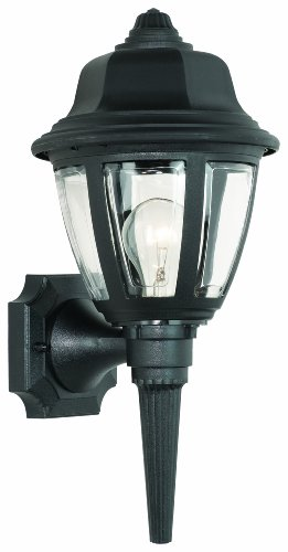 Bellacor Plastic Sconce - Thomas Lighting SL94427 Outdoor Essentials Outdoor Wall Lantern, Black